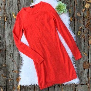 theory Blood Orange Cashmere Sweater Dress Sz S